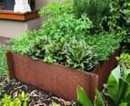 Greenlife Corten 1200x1200x295mm Steel Garden Bed 4