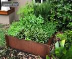 Greenlife Corten 900x600x295mm Steel Garden Bed 1