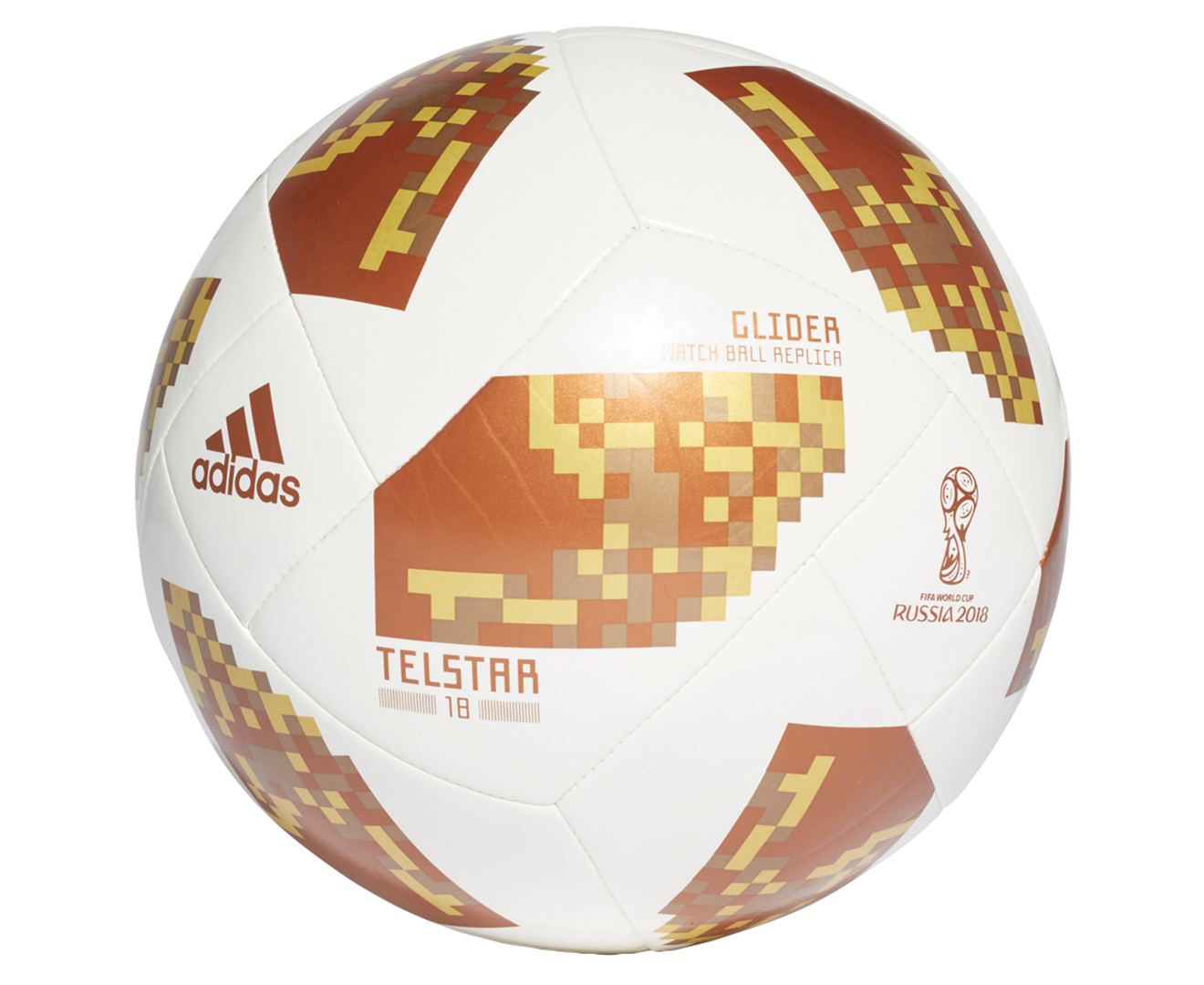 6afb3bf72 Adidas FIFA World Cup Top Glider Ball - White/Copper Gold/Gold Metallic