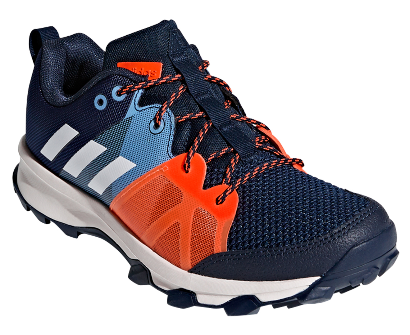 adidas Kanadia 8.1 Kids Running Shoes Navy White US 5