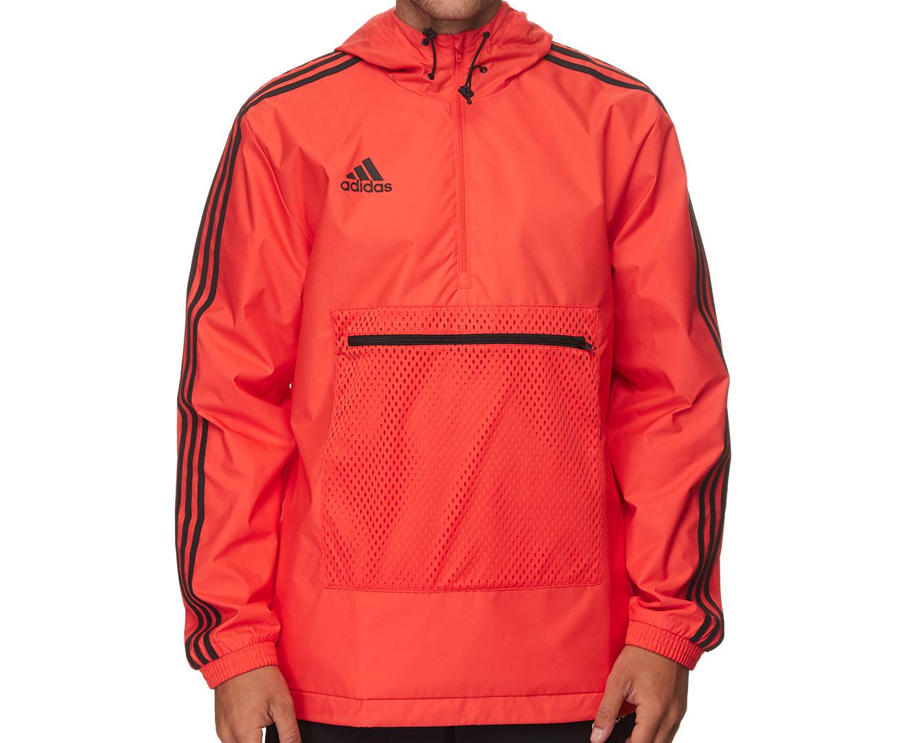 adidas Mens Tango Windbreaker Jacket Red