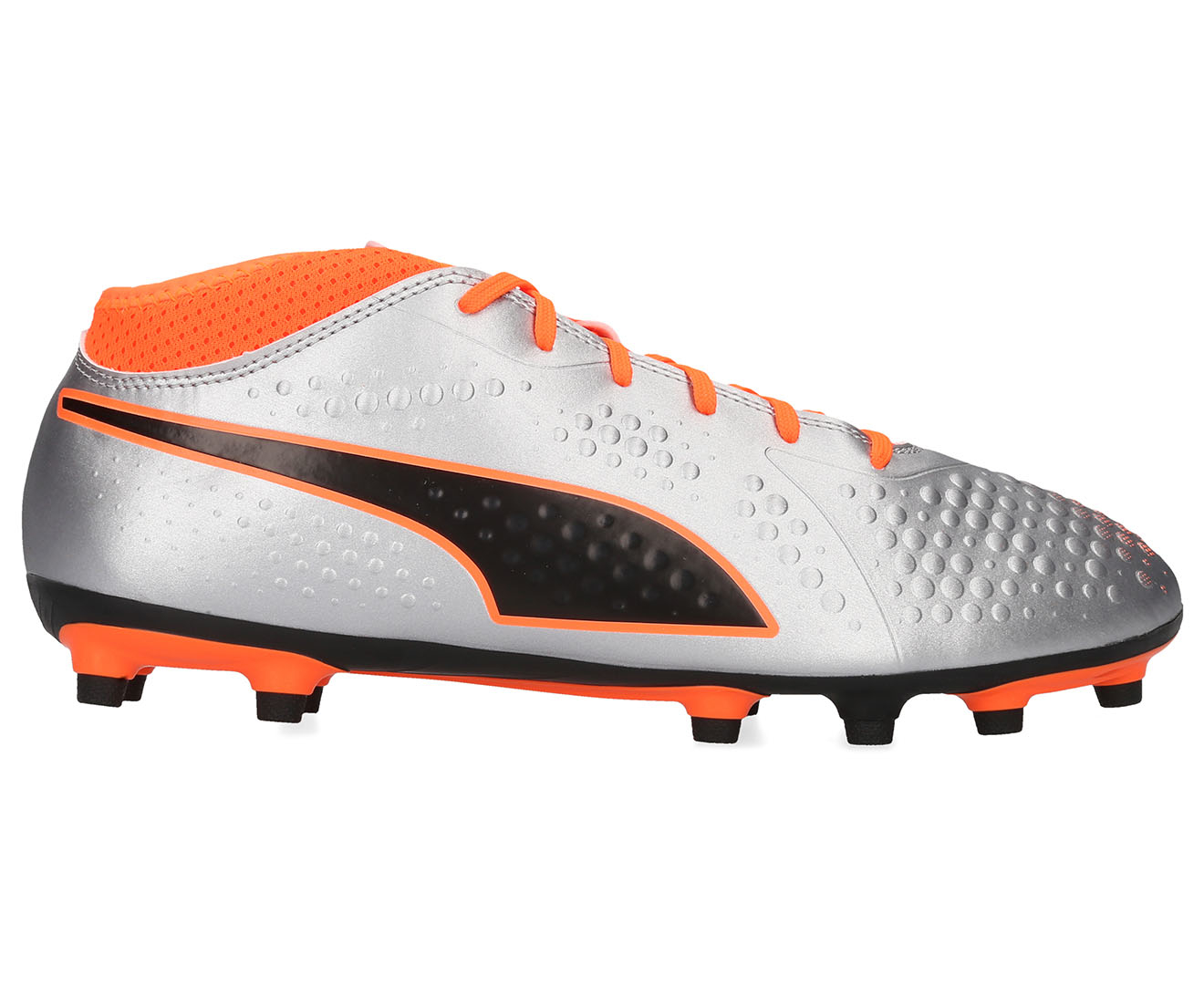 9b6cfe964 Puma One Men's 4 Syn FG Boot - Silver/Orange | eBay