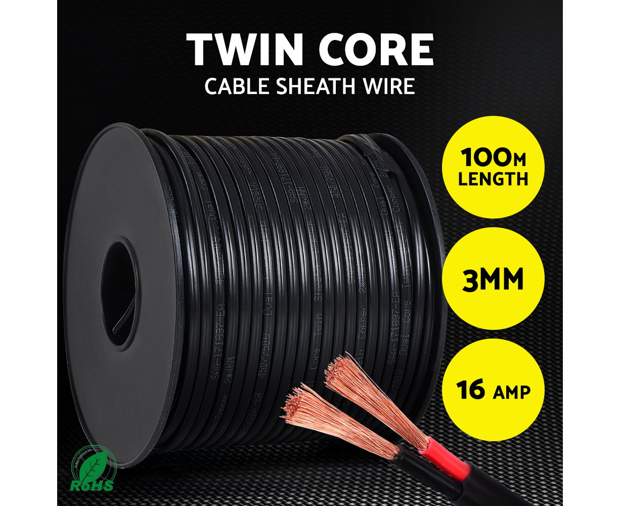 30m x 20 Amp Auto cable 3 mm Red General pupose electrical wire TYCAB