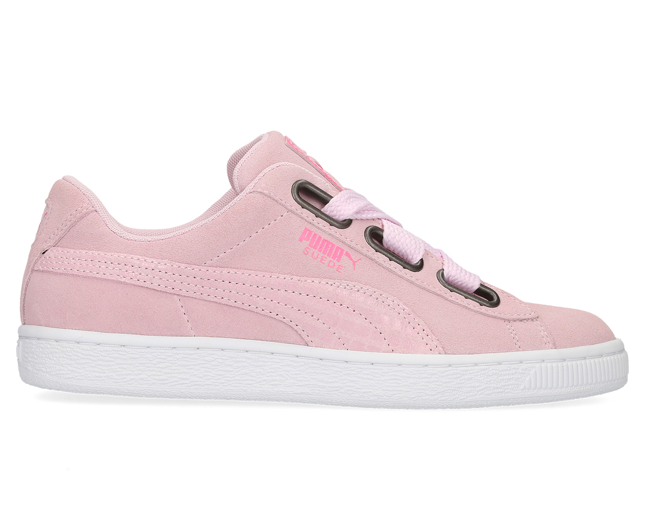 Details about PUMA Women's Suede Heart Street 2 Shoe Winsome Orchid