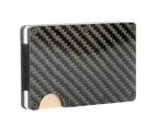 Carbon Fibre RFID Blocking Card Wallet | Minimalist Slim Card Holder | M&W 1