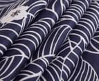 Gioia Casa Ruby 100% Cotton Reversible Queen Bed Quilt Cover Set - Navy 4