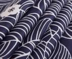 Gioia Casa Ruby 100% Cotton Reversible King Bed Quilt Cover Set - Navy 4