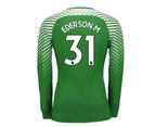 2017-2018 Man City Home Nike Goalkeeper Shirt (Green) (Ederson M 31) 1