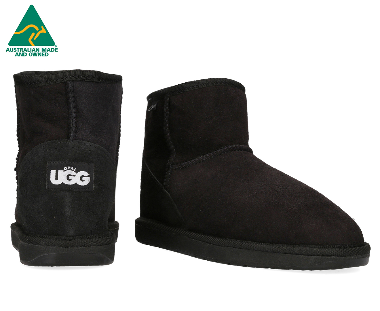 3b2529bb1e7 Details about Opal UGG Australian Made Mini Opal Sheepskin Boots - Black