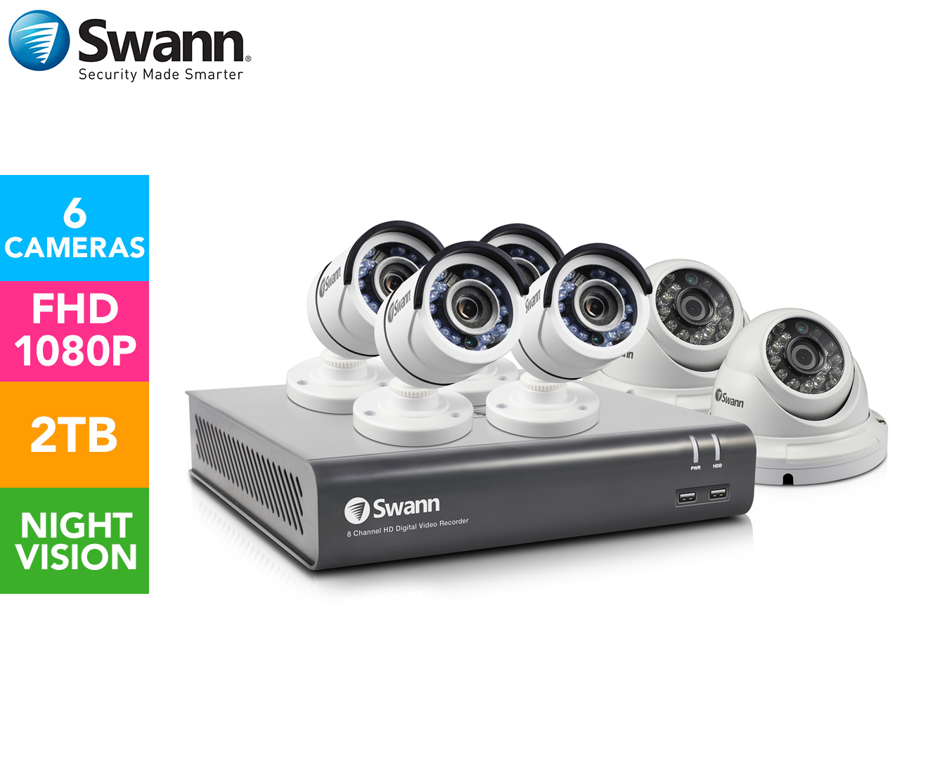 Swann SWDVK-845562D-AU 8-Channel Home Security System