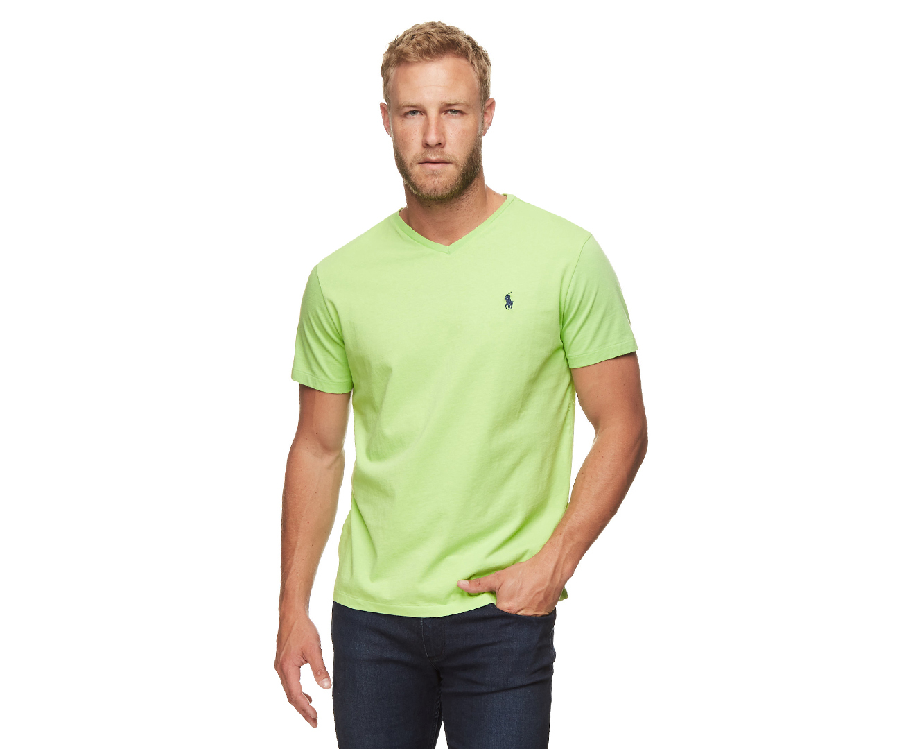 ef37e1ffc6 Details about Polo Ralph Lauren Men's V-Neck T-Shirt - Green