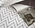 Ardor Morocco Embroidered Queen Bed Quilt Cover Set - White 2