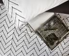 Ardor Morocco Embroidered Queen Bed Quilt Cover Set - White 3