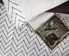Ardor Morocco Embroidered King Bed Quilt Cover Set - White 3