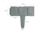 5m Grey Stone Effect Lawn Grass Edging | Garden Plant Flower Bed Border | M&W 4