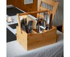 Bamboo Utensil Cutlery Holder   M&W 2