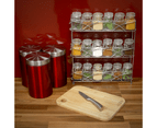 Free Standing 3 Tier Herb & Spice Rack | Non-slip Universal Design | M&W Chrome 4