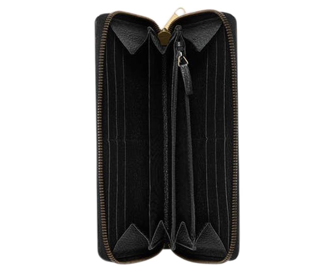 355c3f7d7d Details about Gucci Women's Print Leather Zip-Around Wallet - Black