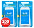 2 x Oral-B Essential Waxed Dental Floss 100m 1