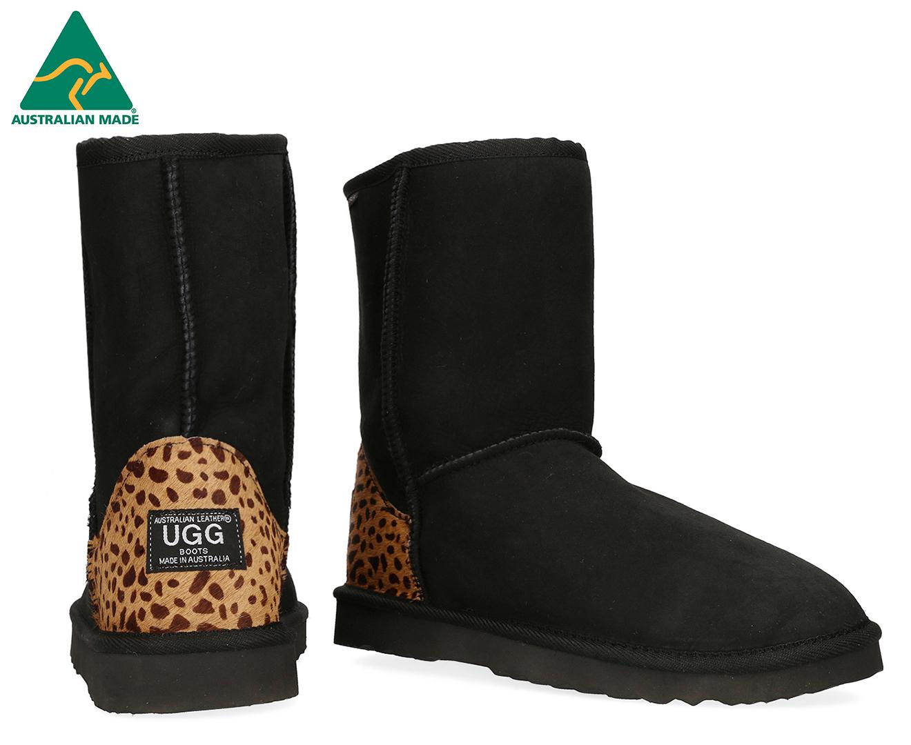 b5d8162d59f Australian Leather Classic Short Ugg Boot - Leopard Print/Black
