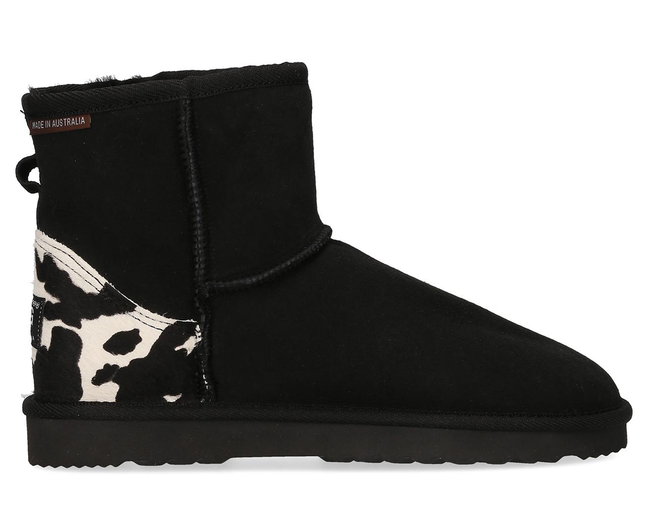 8e530f980ef Details about Australian Leather Classic Short Ugg Boot - Cow Print/Black