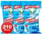3 x Green Shield Glass & Window Wipes 70pk 1