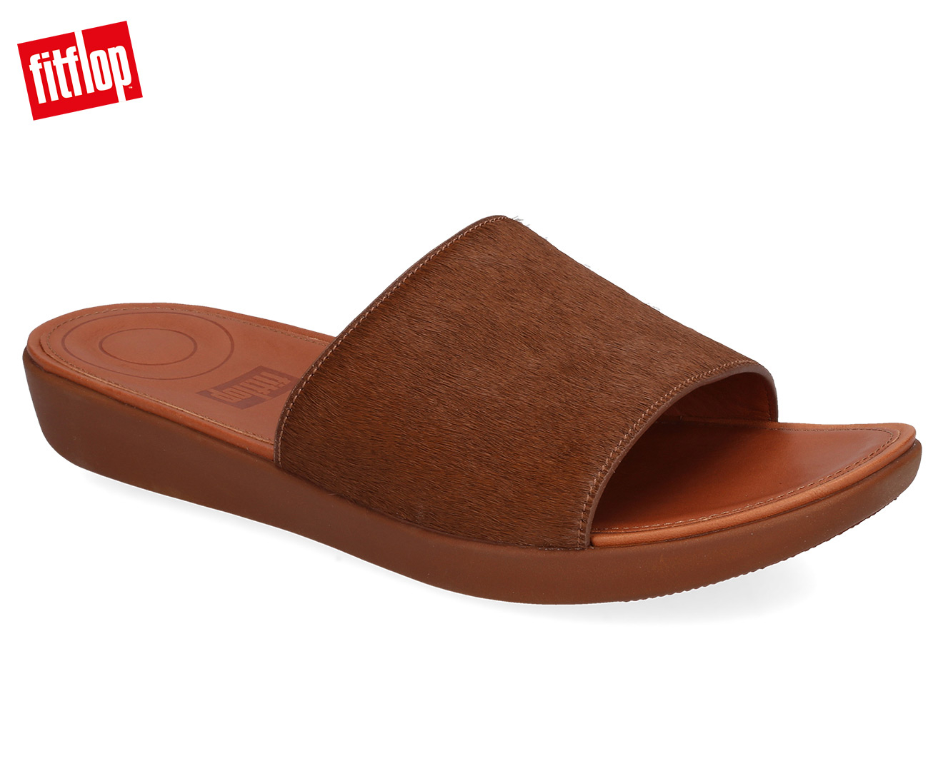 Details about FitFlop Women's Pony Hair Slide Tan