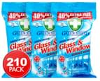 3 x Green Shield Glass & Window Wipes 70pk 1