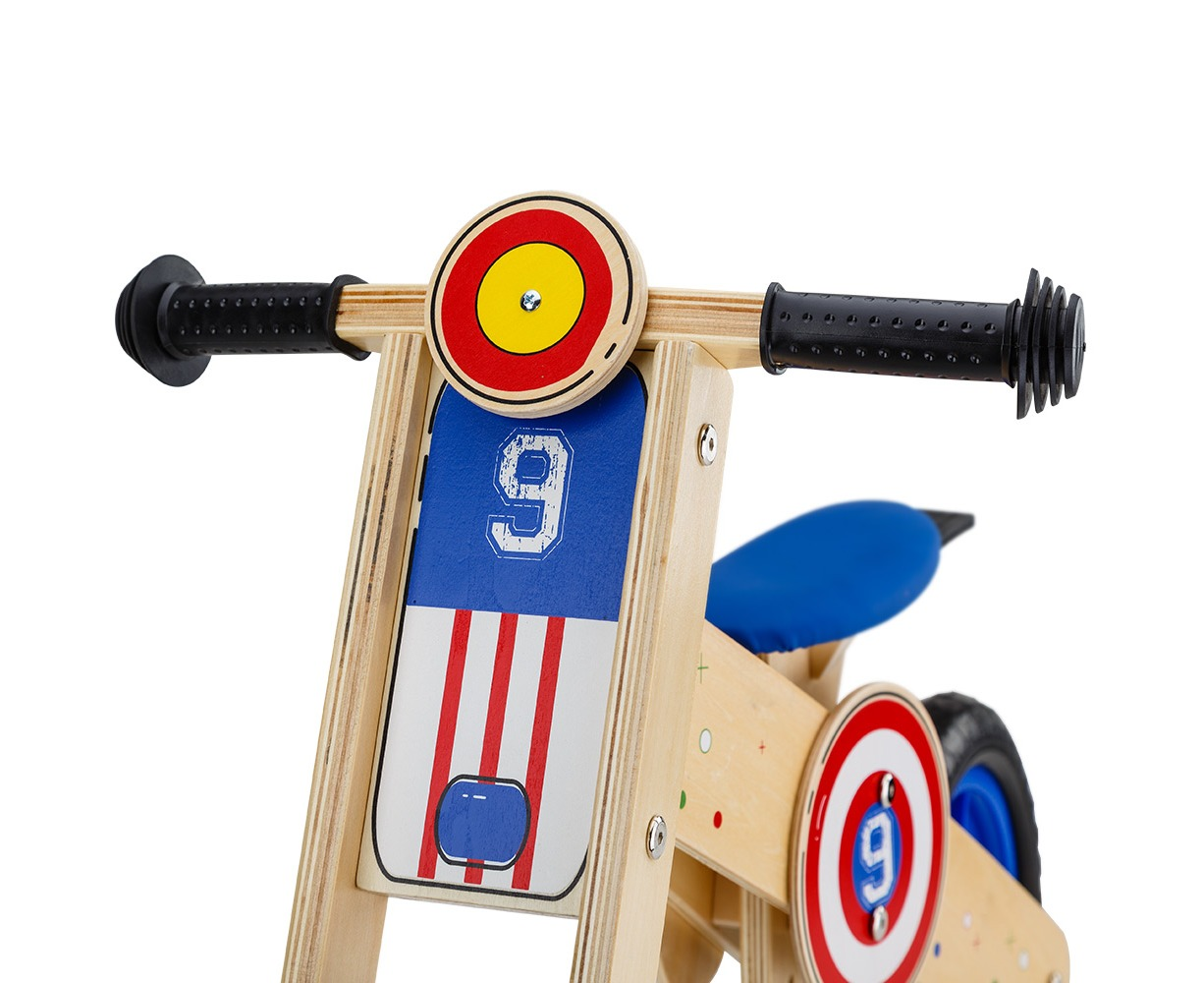 4f06321c008 ROVO KIDS Wooden Kids Balance Bike Ride On Toy Push Bicycle Trainer Outdoor  | Catch.com.au