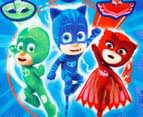 PJ Masks 50x100cm It's Time To Be A Hero Poncho Towel - Multi 3