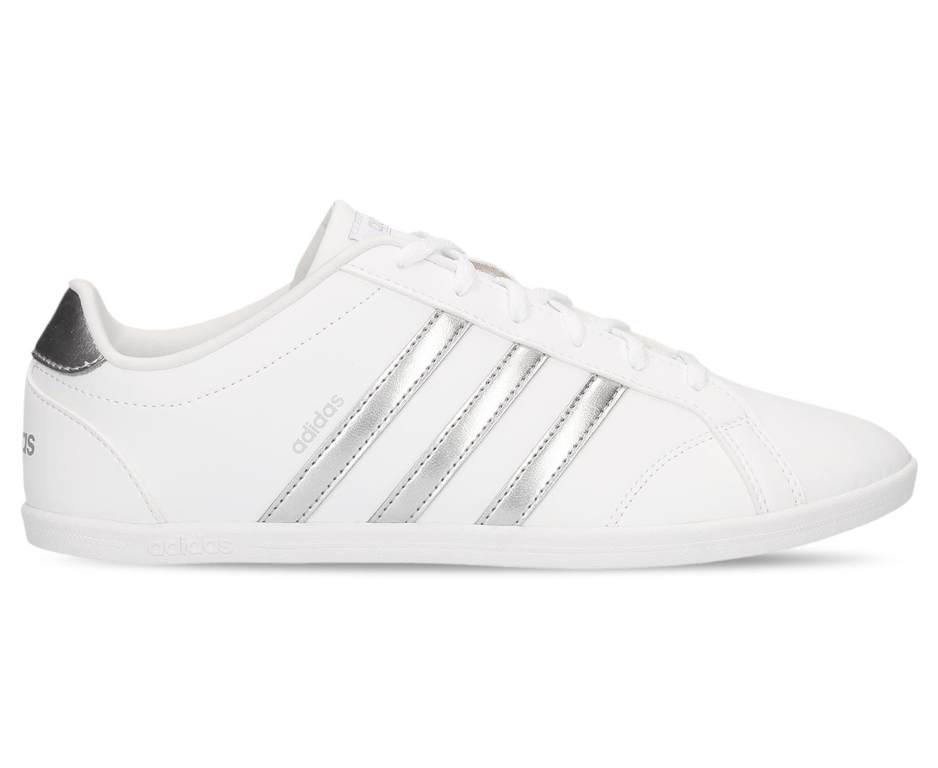 Adidas Women's Coneo QT Shoe Footwear WhiteMetallic Silver