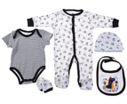Snugzeez Grey Dino 5 Piece Baby Gift Set 1
