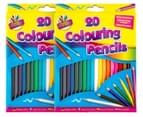 2 x Colouring Pencils 20pk 1