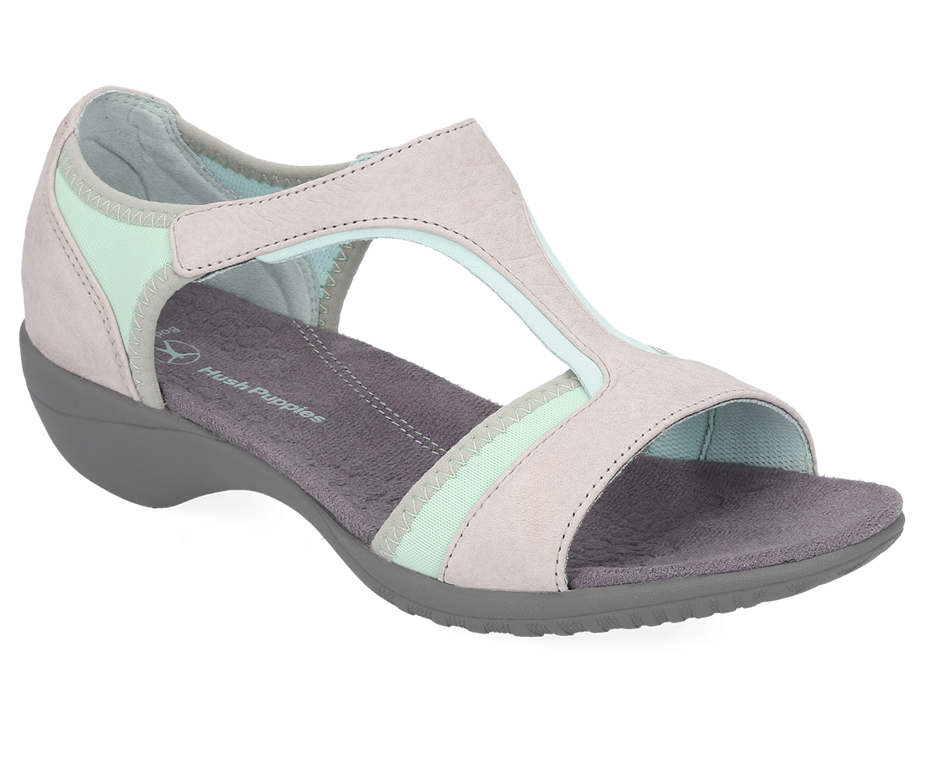 Details about Hush Puppies Women's Meditate Heel Sandal Cool Grey