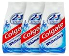 3 x Colgate 2 in 1 Toothpaste & Mouthwash Whitening Liquid Gel 130g 1