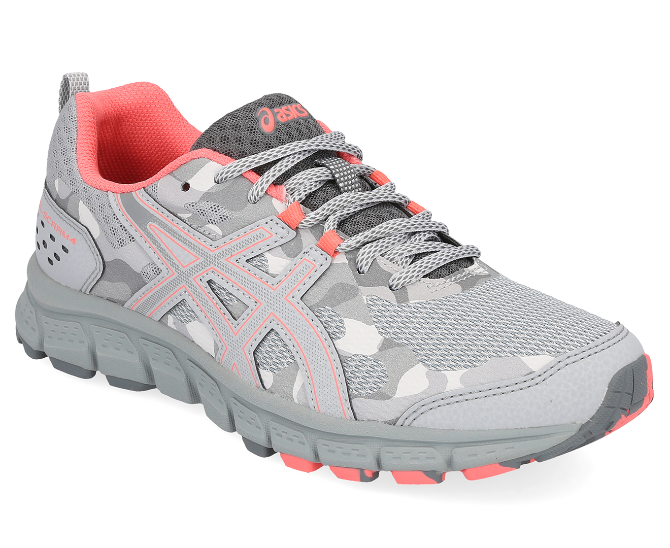 Details about ASICS Women's GEL Scram 4 Trail Running Sports Shoes Mid GreyStone Grey