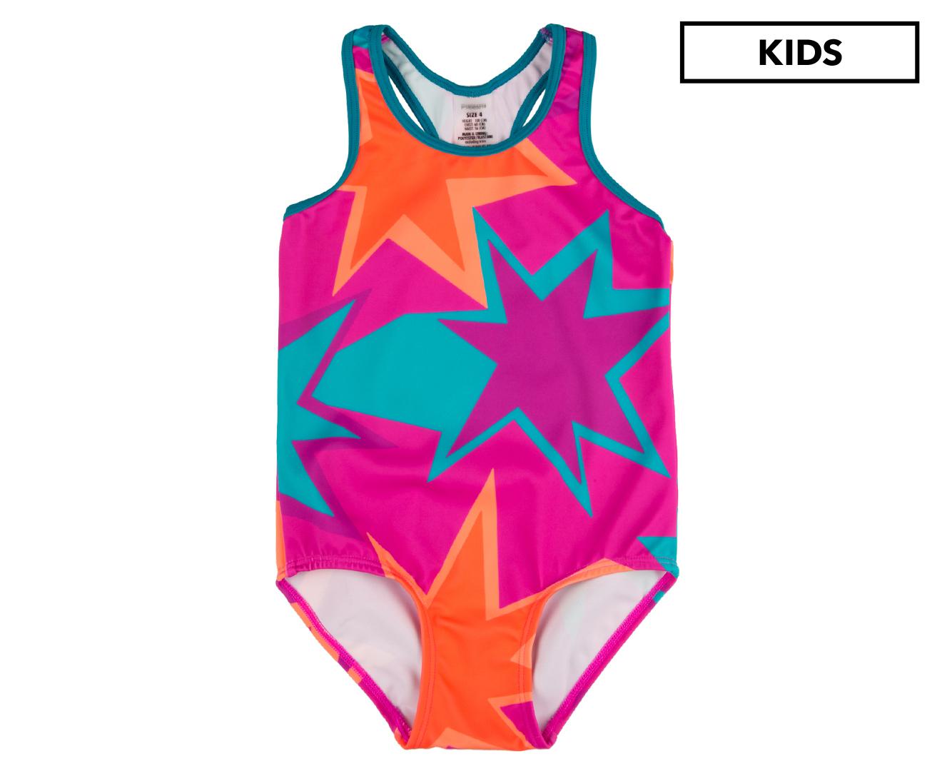 c84cd3eb96a2 Bonds Swim Girls' Racerback Swim One Piece - Pretty Dazzling Fireworks |  Catch.com.au
