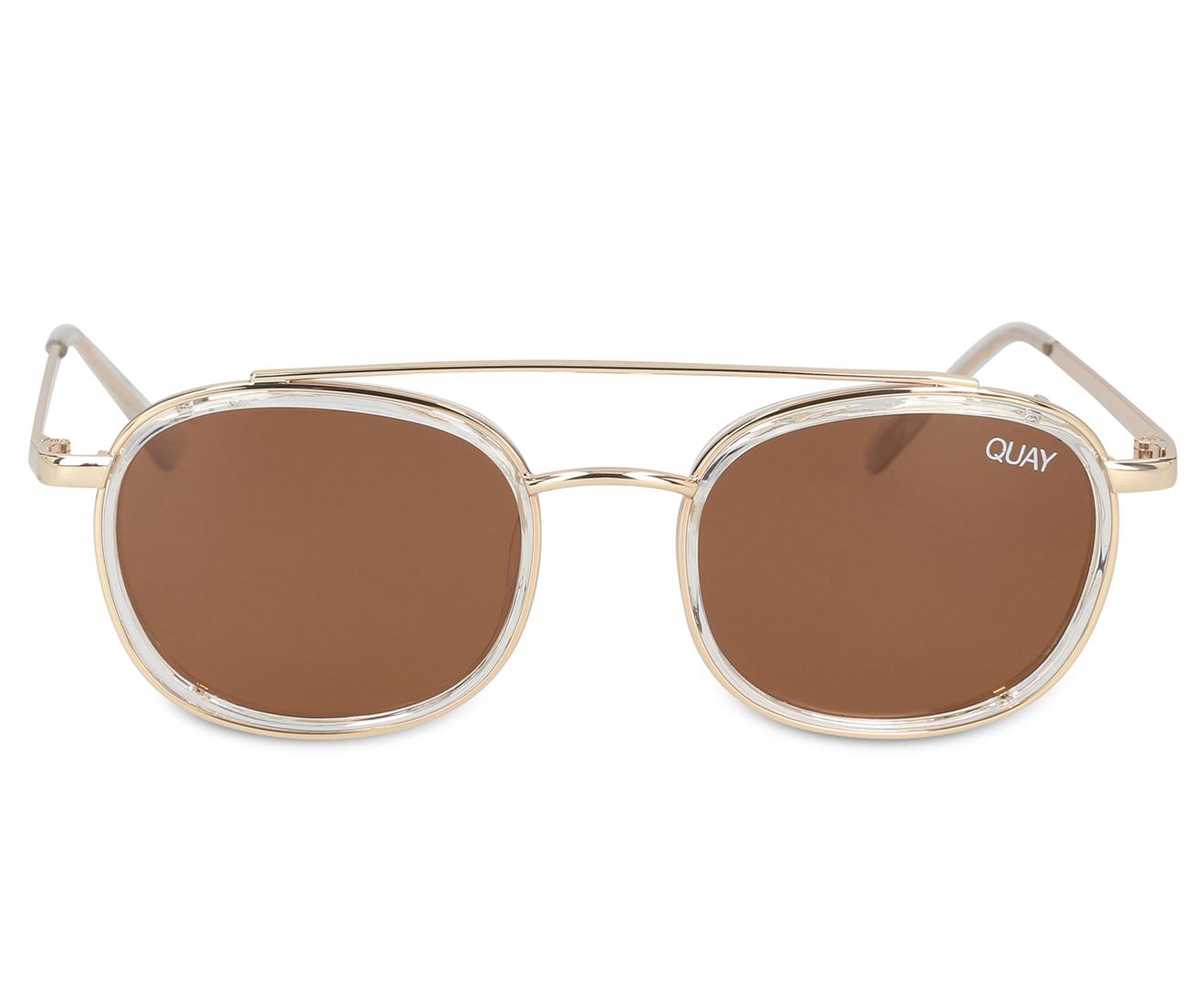 38b4b051b06de Quay Australia Got It Covered Polarised Sunglasses - Clear Brown ...