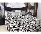 Luxury Printed Faux Fur Quilt Doona Duvet Cover Set White Tiger Double , Queen Size Bed 1