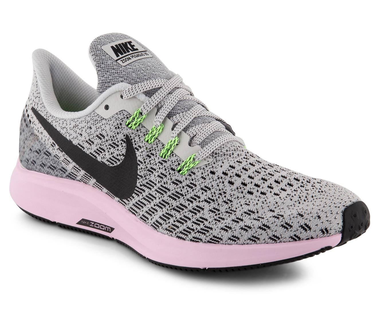 Nike Women's Air Zoom Pegasus 35 Shoe Vast GreyBlack Pink