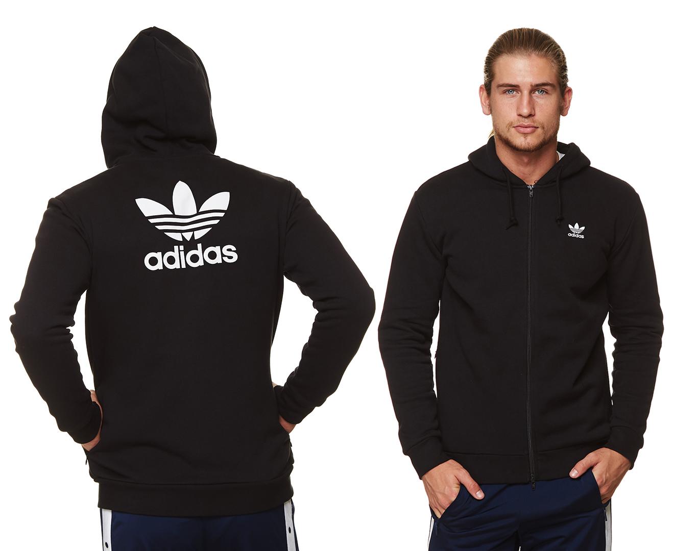Adidas clothing mens adidas Trefoil Series Zip Hoodie