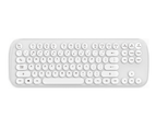 Select Mall Mini Wireless Keyboard and Mouse Set Round Bluetooth Keyboard and Mouse - WHITE 2