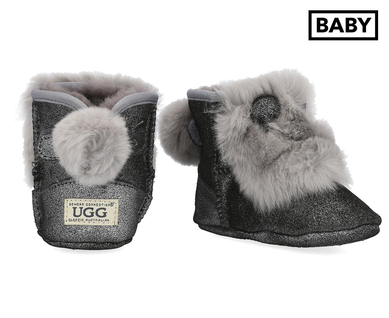 4da1ff621b5 OZWEAR Connection Baby Rabbit Ear Ugg Boot - Glitter Grey