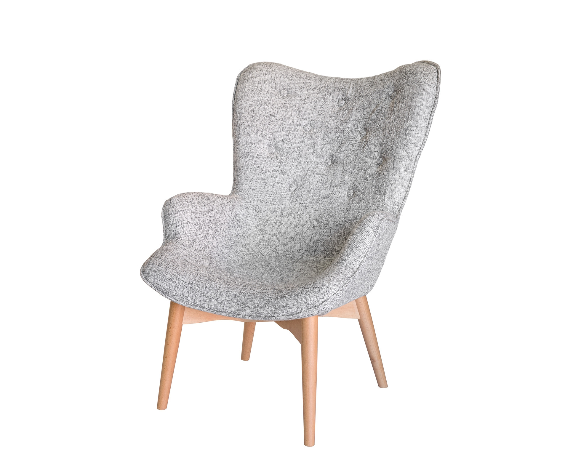 Awesome Replica Grant Featherston Contour Lounge Chair Fabric Natural Legs Textured Light Grey Machost Co Dining Chair Design Ideas Machostcouk