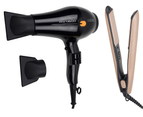 Cabello Pro 4600 Hair Dryer (Black) + Silk Smooth Styler (Gold) 1
