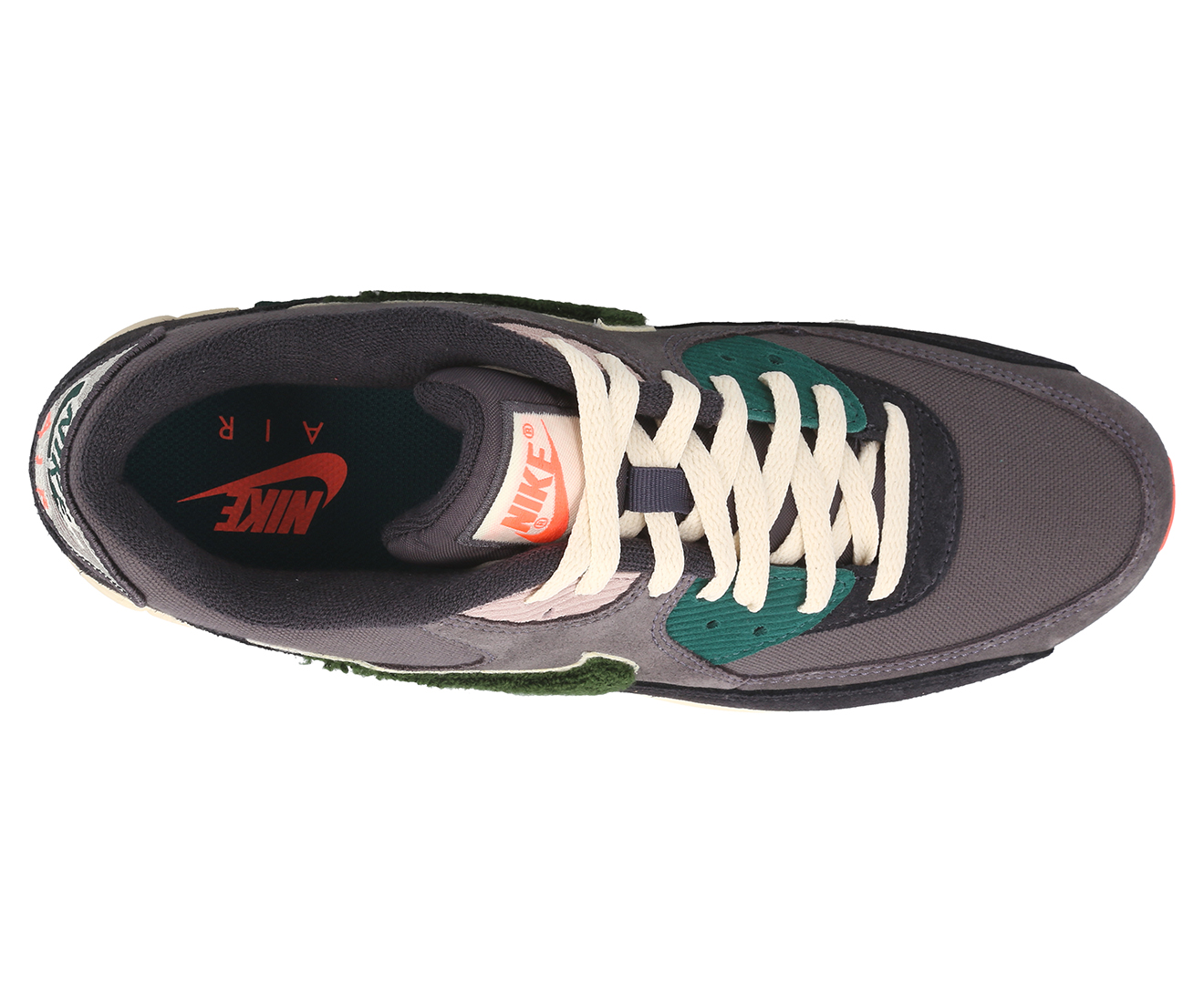 Nike Herren Sneaker Air Max 90 Premium SE Oil GreyRainforest