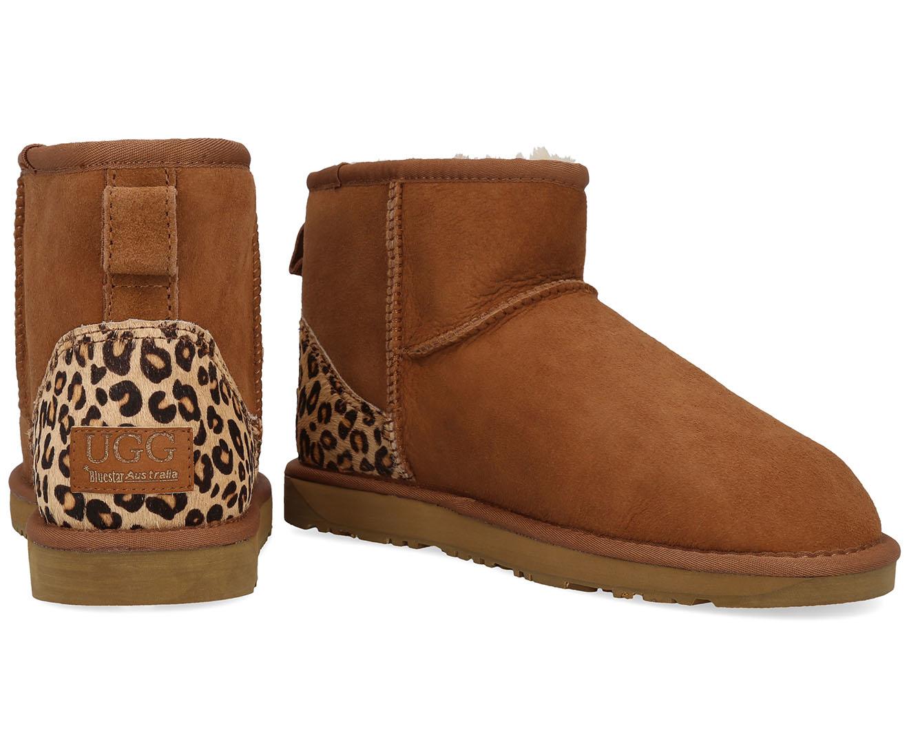 d09055f6d1c Details about Bluestar Women's Premium Australian Sheepskin Ugg Boot -  Chestnut Leopard