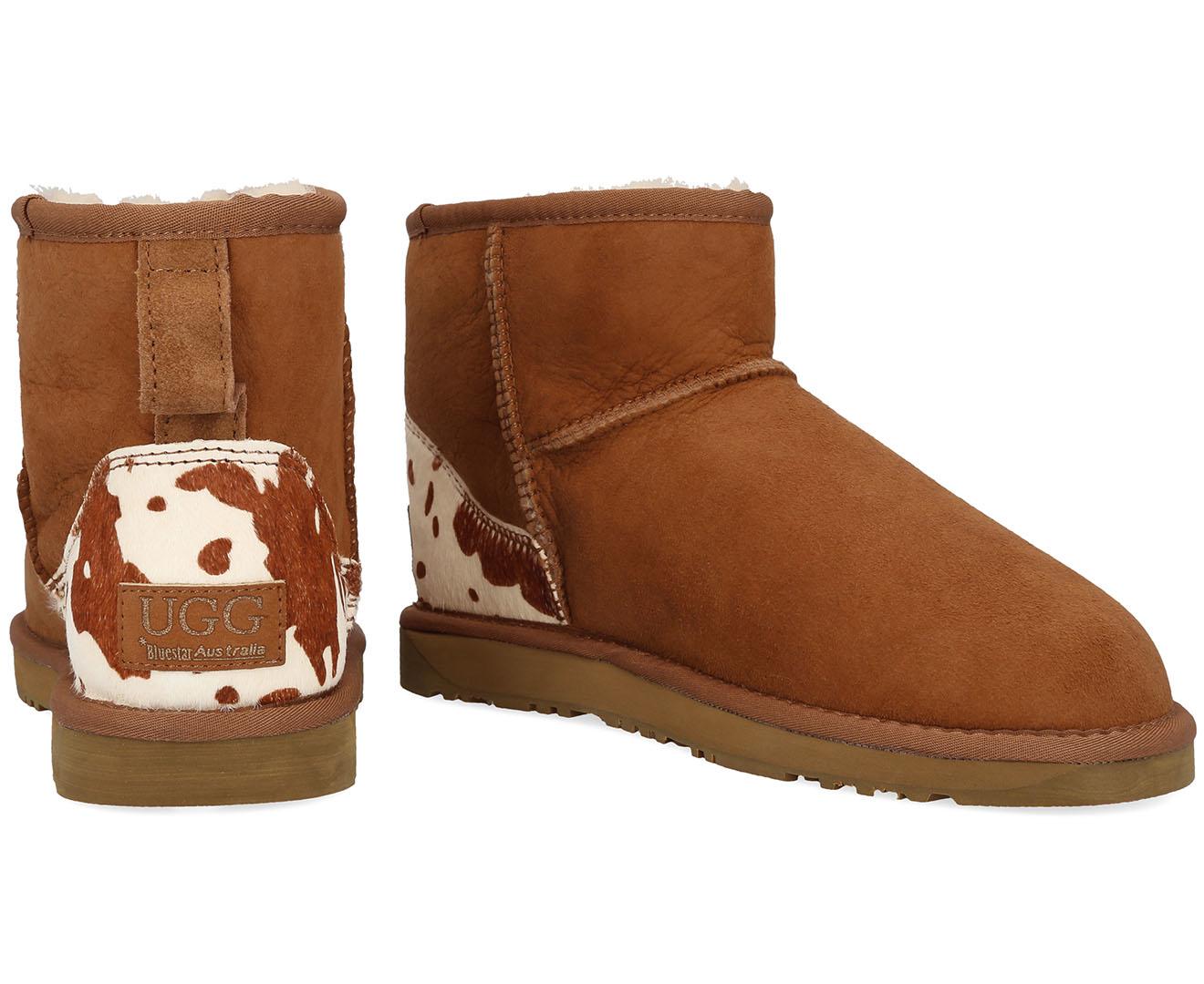 f828f90b37c Details about Bluestar Women's Premium Australian Sheepskin Ugg Boot -  Chestnut Cow