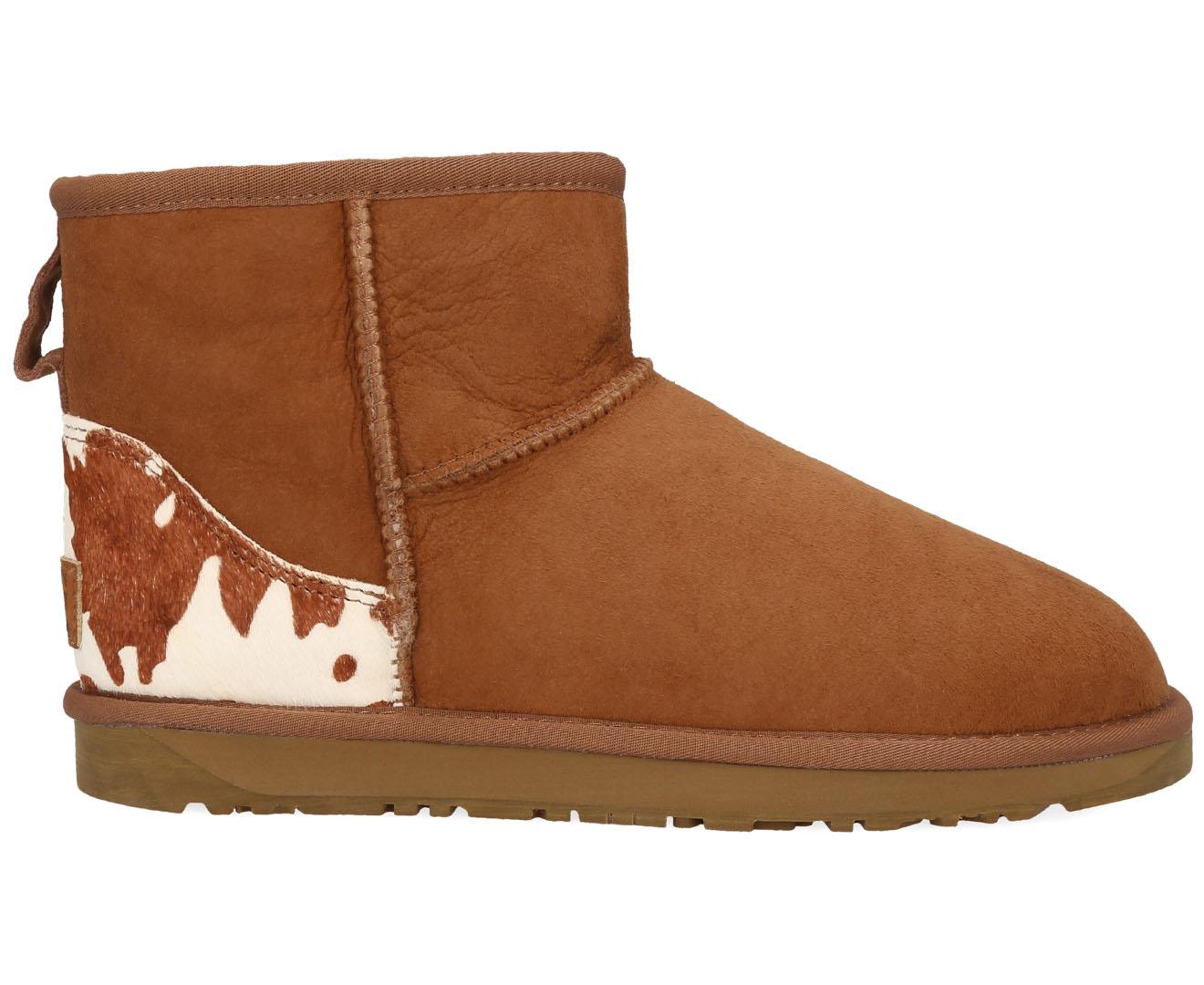 4acad5d4366 Bluestar Women's Premium Australian Sheepskin Ugg Boot - Chestnut Cow