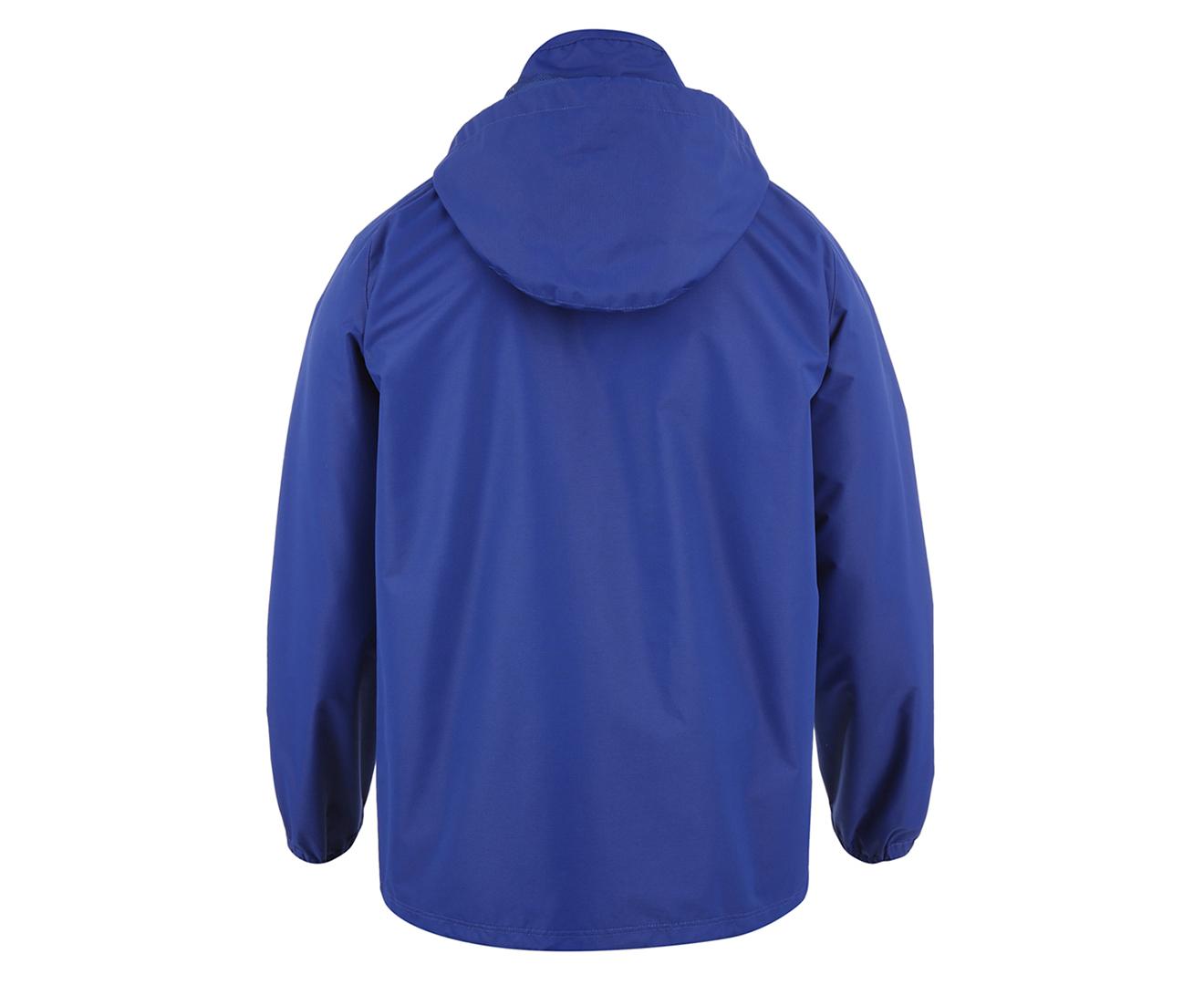 1047b573 Details about Canterbury Men's Team Full Zip Rain Jacket - Royal Blue